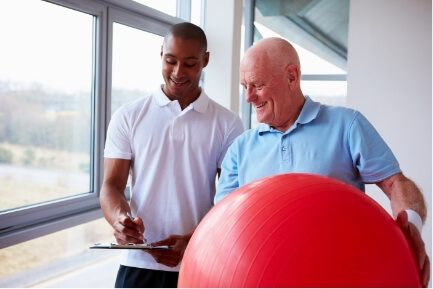 patient in Physical therapy for Arthritis pain relief
